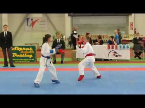 Baltic Grand Prix Budo Cup 2013 , WKF karate kumite girls 10-11 years -34kg