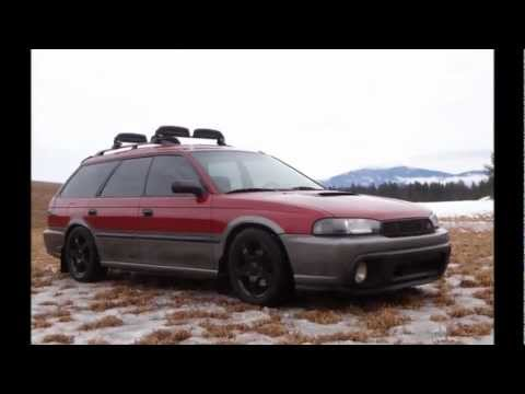 Subaru Legacy Lowered >> 1997 Subaru Outback Photo Shoot - Lowered on WRX Suspension - YouTube
