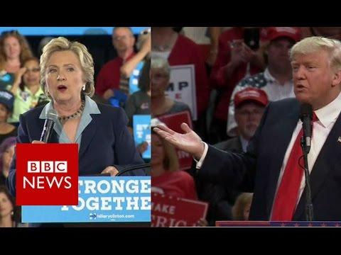 Clinton & Trump go head to head over taxes. - BBC News