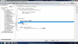 Concept of final keyword in Java with examples