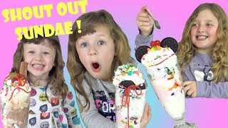 Ava Isla and Olivia Kids in Candy Madness Making Ice Cream Sundae !