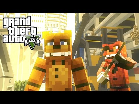 FNAF vs Mobs: GTA V - Monster School (Five Nights At Freddy's)