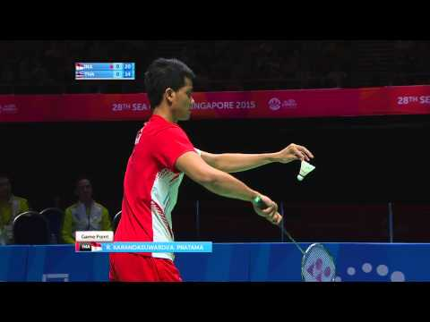 Badminton Mens Team Finals Match 2 (Day 7) | 28th SEA Games Singapore 2015