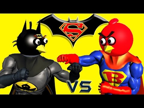 BATMAN vs. SUPERMAN with ANGRY BIRDS  ♫  3D animated  mashup  ☺ FunVideoTV - Style ;-))