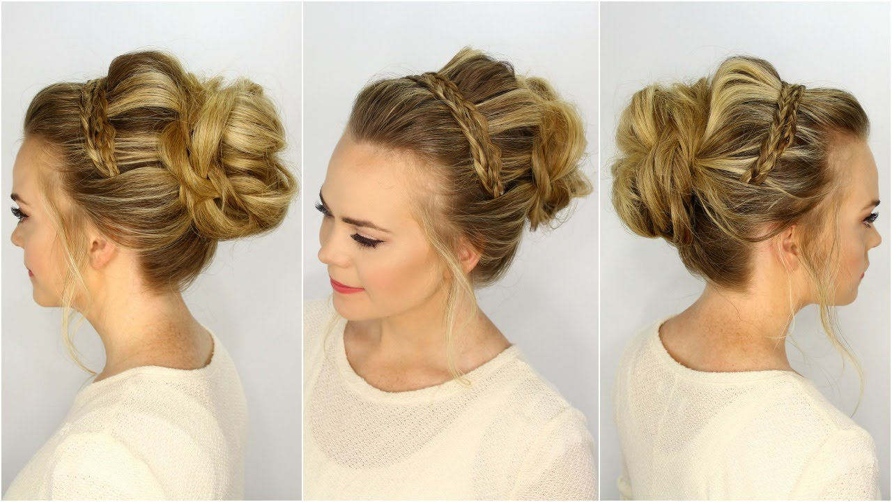 Braided headband updo hairstyle tutorial  Fab Fashion Fix