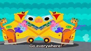 Pinkfong Car Town 🚌  School Bus  Fire Truck  🚓Police Car 🚑 Excavator  Garbage Truck  Bulldozer