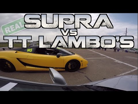 Real Street Supra takes down TWO 2000HP Lambos and more – TX2K15