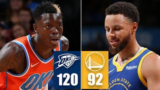 Warriors suffer blowout loss vs. Thunder | 2019-20 NBA Highlights