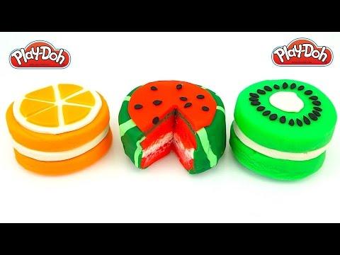 Пластилин Плей до делаем фруктовые тортики