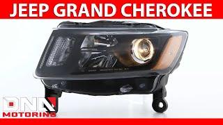 DNA Motoring 14-16 Jeep Grand Cherokee Pre Facelift Black Housing Amber Headlights