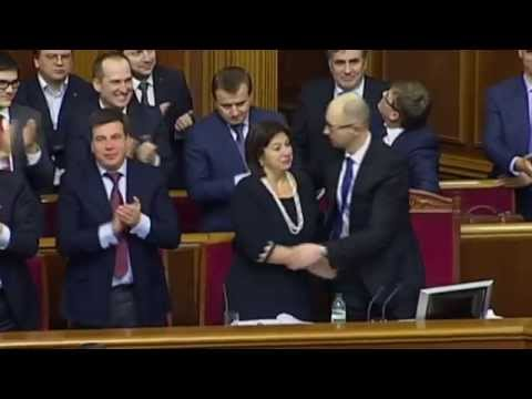 Ukraine's 2015 Austerity Budget: Emotional scenes in parliament as MPs vote through spending cuts