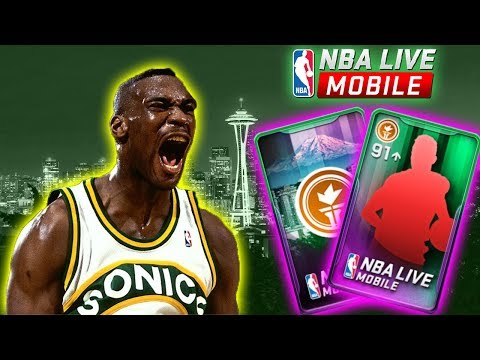 EPIC SEATTLE COURT PACK OPENING + HOW TO GET 97 SHAWN KEMP | NBA LIVE MOBILE PACK OPENING
