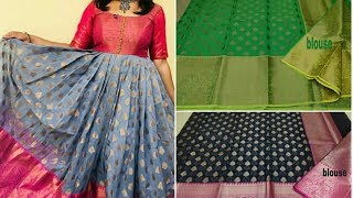 All Clip Of Convert Old Saree Into Long Gown Dress Bhclipcom