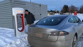 #13 RANGE ANXIETY! First Tesla Roadtrip in the Winter in our Model S 60D  (PART 1 of 2)