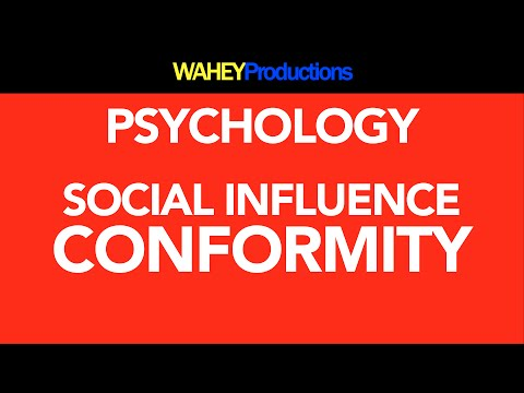 social psychology and conformity This short revision video takes a look at a key topic in social psychology - conformity.