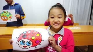Hunter Kids Go To School Learn Colors Orange Beetles |  | Classroom Funny Nursery Rhymes