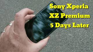 Xperia  XZ Premium 5 days later