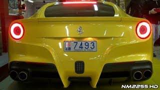 Ferrari F12 Berlinetta Starts and Driving