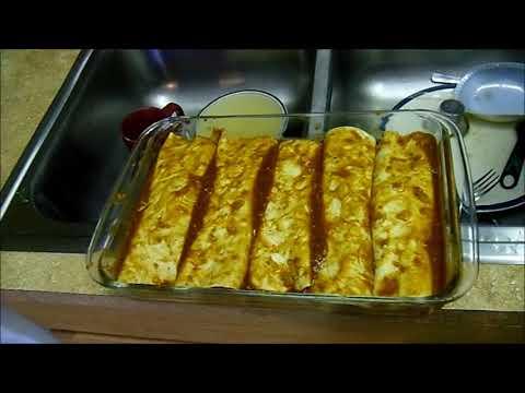 Kicked Up Pork Enchiladas (recipe) (homemade Enchilada Sauce) video