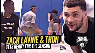 How Zach LaVine Is Getting Ready For a MONSTER Season!! Thon Maker BALLS OUT! Lawley Runs!