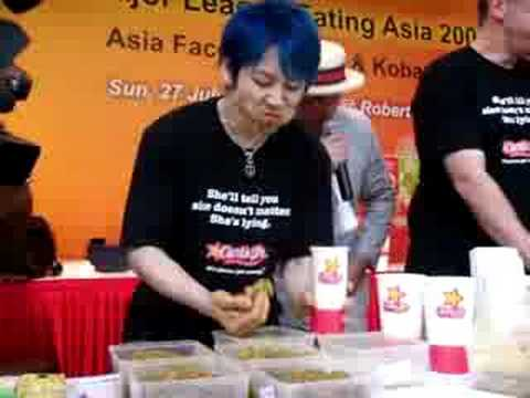 Takeru Kobayashi VS Joey Chestnut - Satay!