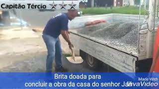 ❤ ANJOS SOLIDÁRIOS ❤ DOAÇÃO DA BRITA PARA CASA 01 (SEU JAIR)