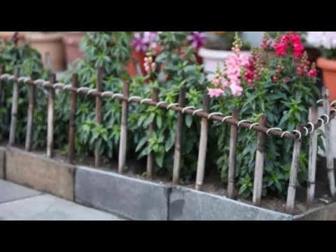 Как украсить КЛУМБУ, ЦВЕТНИК Декоративный заборчик для клумбы Дачный декор