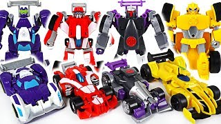 Robocar Poli was caught by dinosaurs, monkey! Transformers Rescue Bots Racing Car! - DuDuPopTOY
