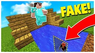 THE BEST FAKE WATER TRAP! **works** (Minecraft Skywars Trolling)