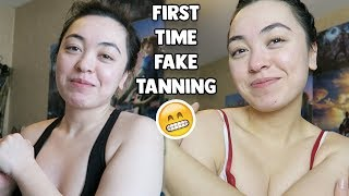 Fake Tanning For The First Time!! 😂