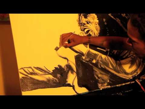 Bob Marley - Redemption Song Live Painting By Keenan Chapman...
