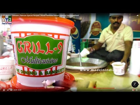 Grill9 Mutton Haleem Making Video | Best Ramzan Foods in Hyderabad | Hyderabadi Haleem Making