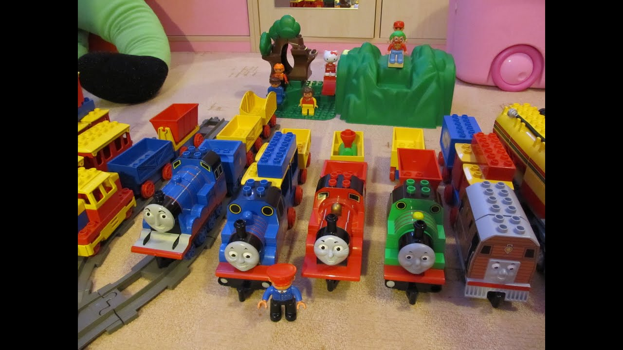 Thomas the tank engine and his friends - Lego Duplo! - YouTube