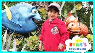 Amusement Park for Kids Rides! Frozen Ever After Ride at Epcot! Meeting Disney Elsa and Anna IRL