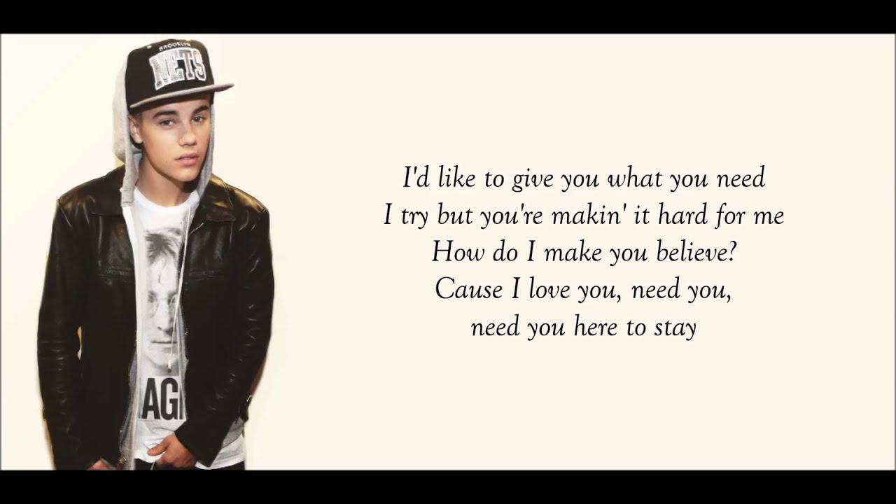 Justin Bieber Memphis Lyrics YouTube
