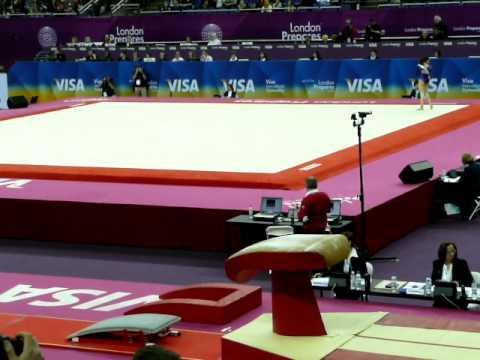 Giulia steingruber (Switzerland) Vault 1- 2012 olympic test event qualifier