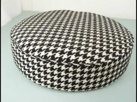 Upholstering a Round Stool by Mod Home Ec Teacher