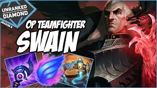 THE OP TEAMFIGHTER, SWAIN! Plat 1 Promo! - Unranked to Diamond - Ep. 130 | League of Legends