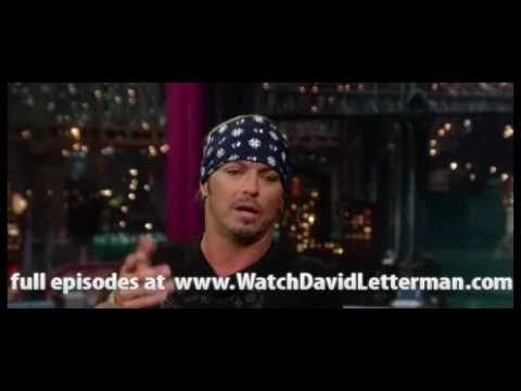 Bret Michaels in Late Show with David Letterman 2010-07-15