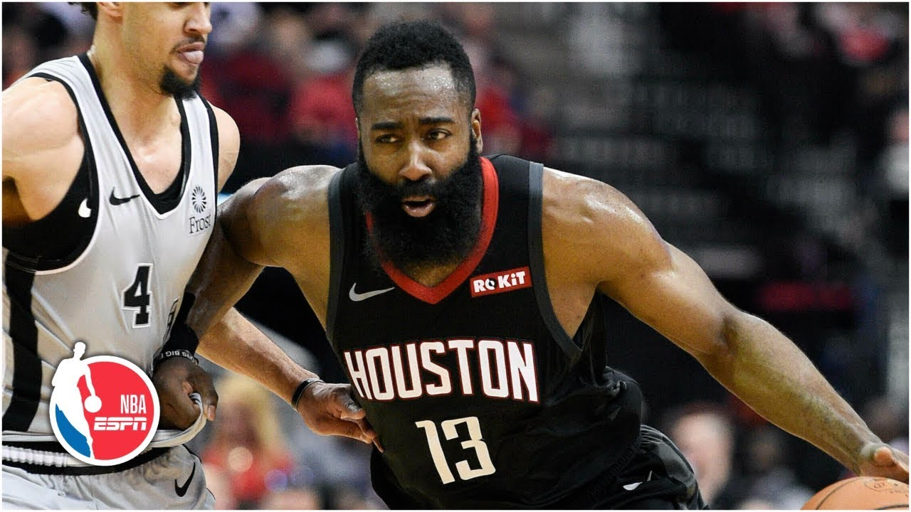 3a7699ab1554 James Harden s 61 points matches his career high as he leads the Rockets to  victory