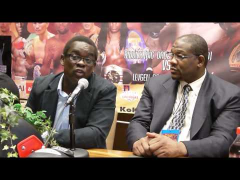 Riddick Bowe Muay Thai press conference w/ Dewey Cooper & Marvin Eastman