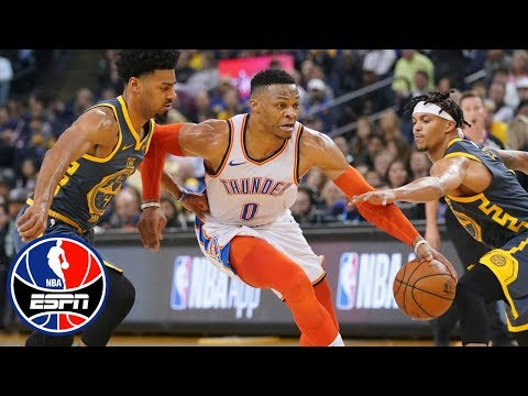 Russell Westbrook, Paul George fuel Thunder win vs. Warriors | NBA Highlights
