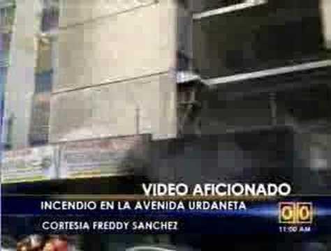 Incendio en edf. 63 Av. Urdaneta-Caracas