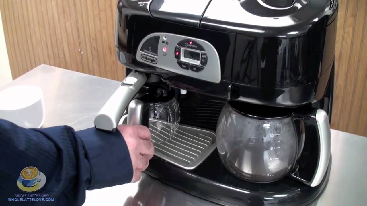 delonghi bco130t combination machine at whole latte love youtube. Black Bedroom Furniture Sets. Home Design Ideas
