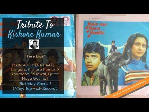 Kishore Kumar & Anuradha Paudwal - Tere Liye | Main Aur Mera Haathi (1981) | Kalyanji Anandji
