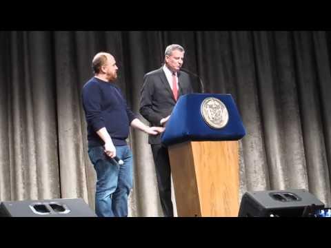 Inner circle New York City Mayor Bill de Blasio video by Iris Zimmerman march 28, 2015 001
