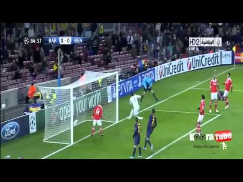 Barcelona vs Benfica 0-0 ( Lionel Messi's Injury ..)