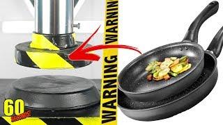 60 SECONDS Experiment - HYDRAULIC PRESS VS Frying Pan | CRASH TEST