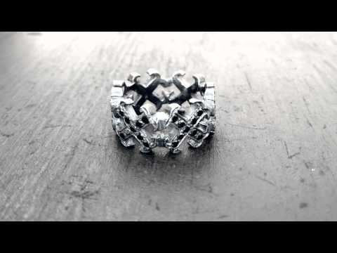 Dianty O.G. Cross Borderless Envelop Ring Pave Black Diamonds