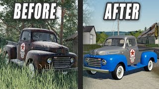 FS19- FINDING GRANDPA'S RUSTY TRUCK IN THE WOODS & BRINGING IT BACK TO LIFE!